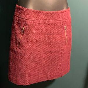 NWOT Ann Taylor Loft maroon red zipper skirt 7/$35